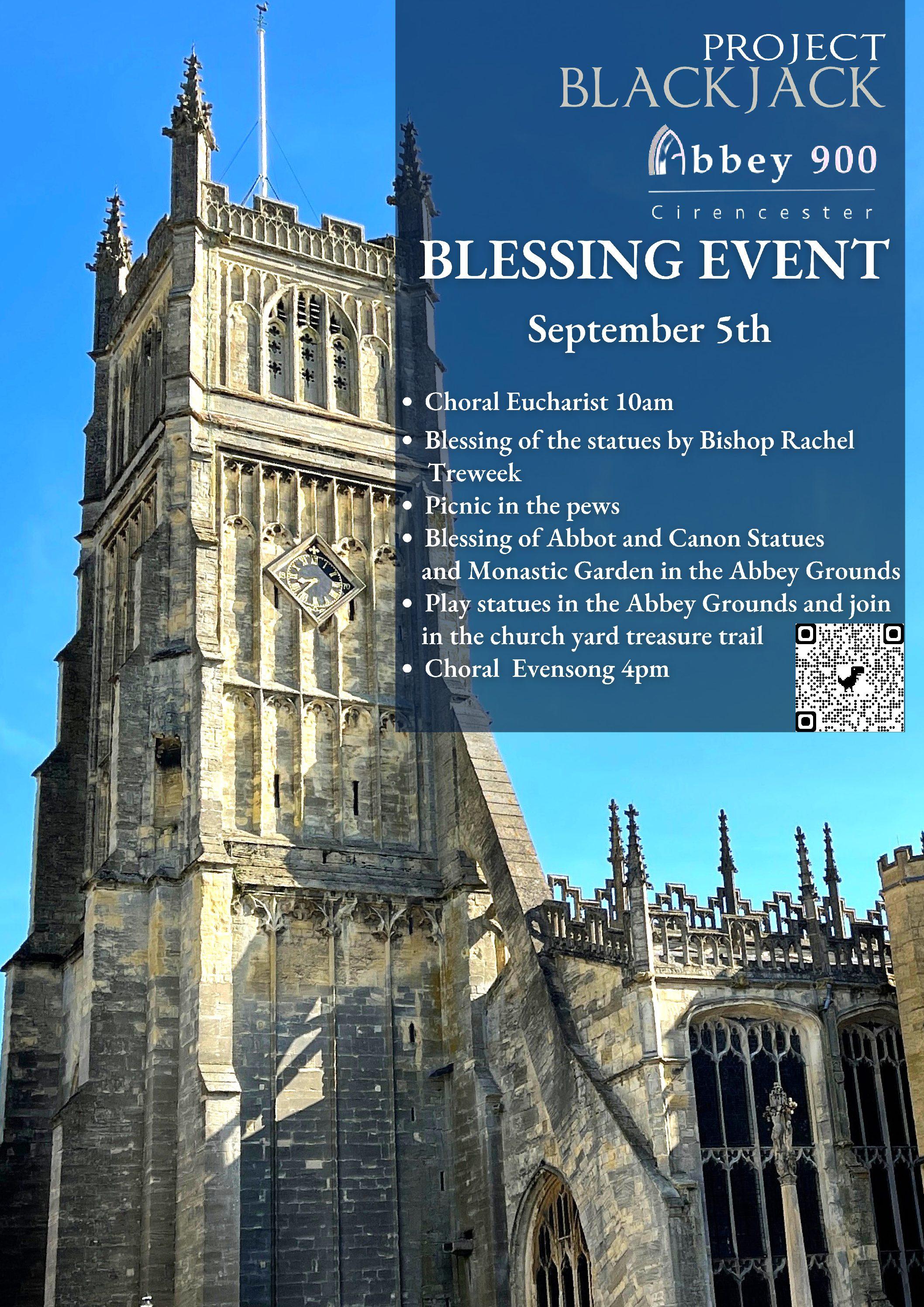 Blessing Event – Sunday 5th September
